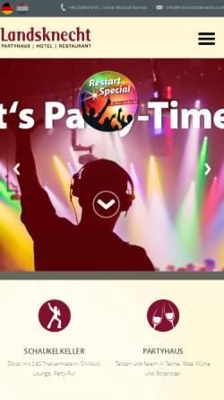 Vorschau der mobilen Webseite www.hotel-landsknecht.com, Hotel Restaurant Landsknecht