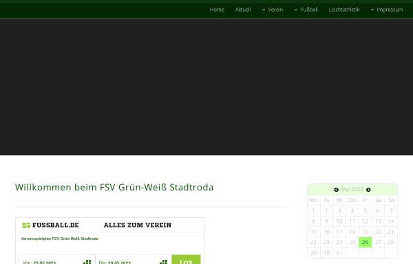 Vorschau von www.gruenweiss-stadtroda.de, FSV Grün Weiß Stadtroda e.V.