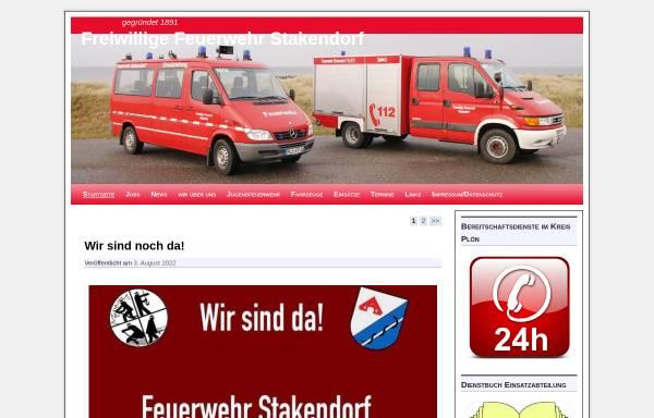 Vorschau von feuerwehr.stakendorf.de, Freiwillige Feuerwehr Stakendorf