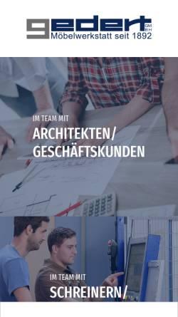 Vorschau der mobilen Webseite www.gedert.de, Gedert-Objekteinrichtungen