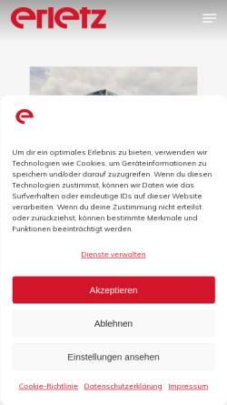 Vorschau der mobilen Webseite www.erletz-reisen.de, Erletz GmbH