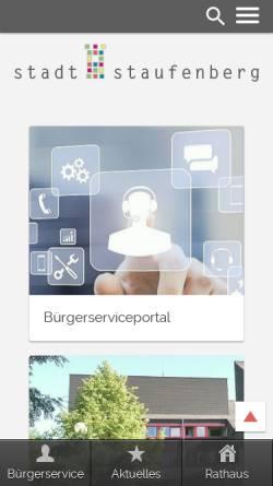Vorschau der mobilen Webseite www.staufenberg.de, Staufenberg