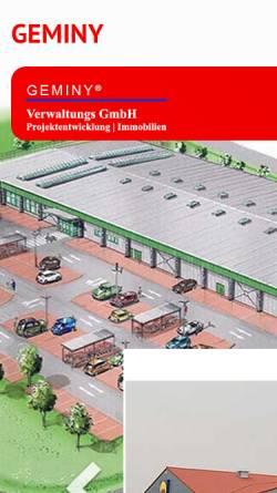 Vorschau der mobilen Webseite www.geminy.de, Geminy Baumanagement GmbH