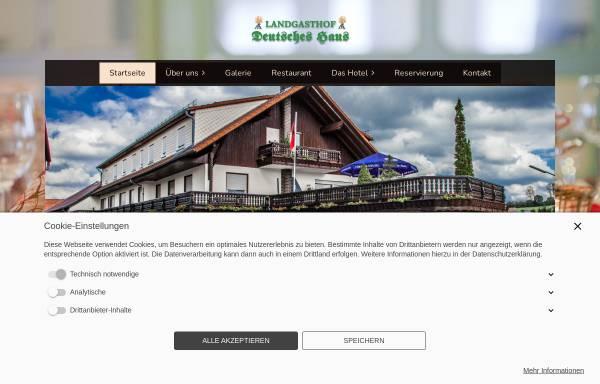 Vorschau von www.landgasthof-deutsches-haus.de, Landgasthof Deutsches Haus