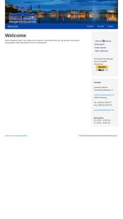 Vorschau der mobilen Webseite www.davidstern.de, Liberale Jüdische Gemeinde Hamburg