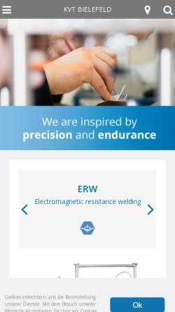 Vorschau der mobilen Webseite www.kvt-bielefeld.de, KVT Bielefeld GmbH