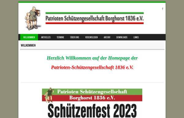 Vorschau von www.patrioten-schuetzengesellschaft.de, Patrioten Schützengesellschaft Borghorst 1836 e.V.