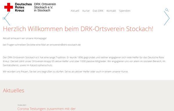 Vorschau von www.drk-stockach.de, DRK-Ortsverein Stockach