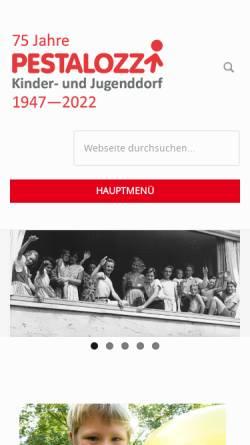 Vorschau der mobilen Webseite www.pestalozzi-kinderdorf.de, Pestalozzi Kinder- und Jugenddorf e.V.