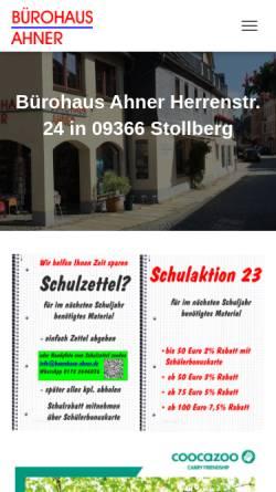 Vorschau der mobilen Webseite buerohaus-ahner.de, Bürohaus Ahner