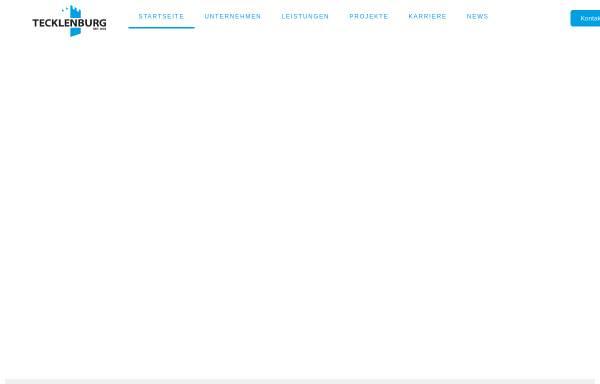 Vorschau von tecklenburg-bau.de, Bauunternehmen Tecklenburg GmbH