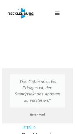 Vorschau der mobilen Webseite tecklenburg-bau.de, Bauunternehmen Tecklenburg GmbH