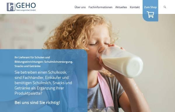 Vorschau von geho-straelen.de, GeHo Nahrungsmittel GmbH