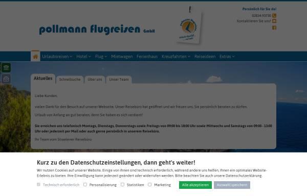 Vorschau von www.pollmannflug.de, Pollmann Flugreisen GmbH