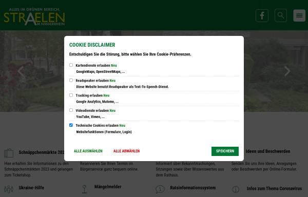 Vorschau von www.straelen.de, Stadt Straelen