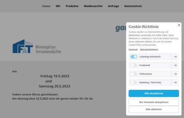 Vorschau von www.fut-wintergaerten.de, F&T - Fenster-Türen-Bauelemente GmbH