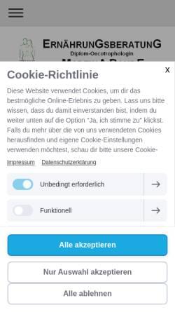 Vorschau der mobilen Webseite www.ernaehrungsberatung-sundern.de, Ernährungsberatung, Martina Bahde