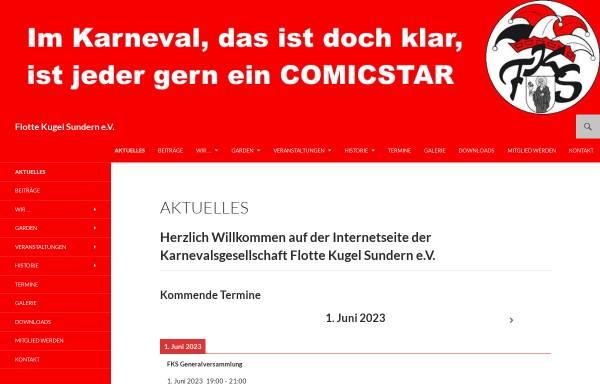 Vorschau von www.flotte-kugel.de, Karnevalsgesellschaft Flotte-Kugel Sundern e.V.