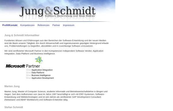 Vorschau von www.jung-schmidt.de, Jung und Schmidt, Softwareentwicklung und Neue Medien
