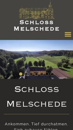 Vorschau der mobilen Webseite schloss-melschede.de, Schloss Melschede