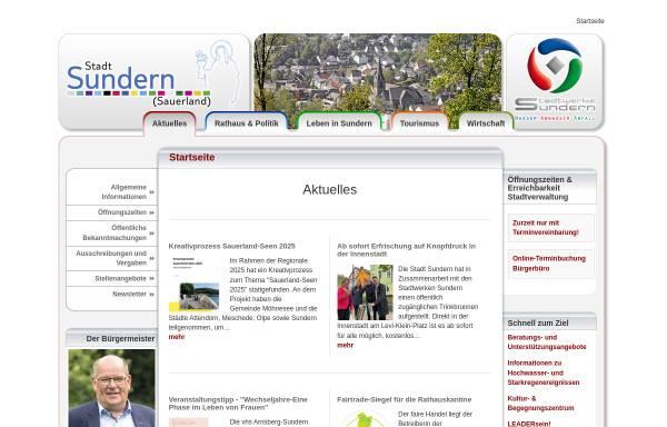 Vorschau von www.sundern.de, Sundern