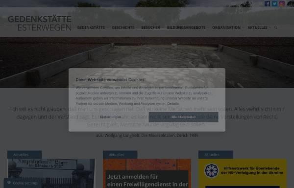 Vorschau von www.gedenkstaette-esterwegen.de, Dokumentations- und Informationszentrum (DIZ) Emslandlager