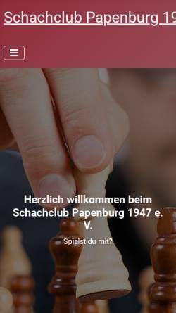 Vorschau der mobilen Webseite www.schachclub-papenburg.de, Schachclub Papenburg 1947 e.V.