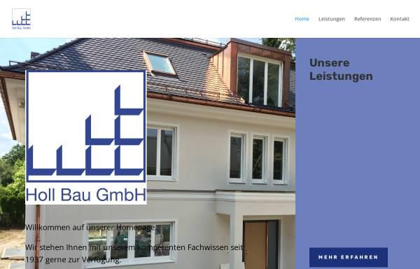 Vorschau von www.holl-bau.com, Bauunternehmen Holl GmbH
