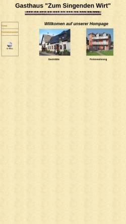 Vorschau der mobilen Webseite www.zum-singenden-wirt.de, Gasthaus