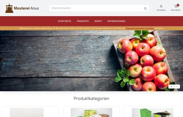 Vorschau von mosterei-anus.de, Mosterei Anus