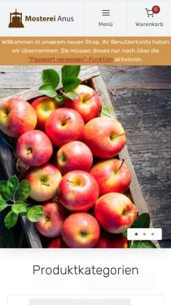 Vorschau der mobilen Webseite mosterei-anus.de, Mosterei Anus