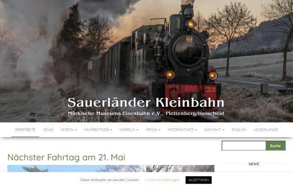 Vorschau von www.sauerlaender-kleinbahn.de, Märkische Museums-Eisenbahn