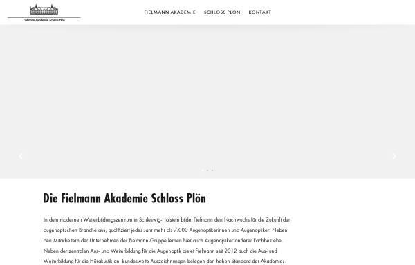 Vorschau von www.fielmann-akademie.com, Fielmann Akademie Schloss Plön