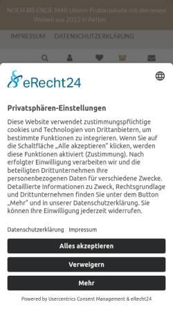 Vorschau der mobilen Webseite www.leo-fuchs.de, Weingut Leo Fuchs