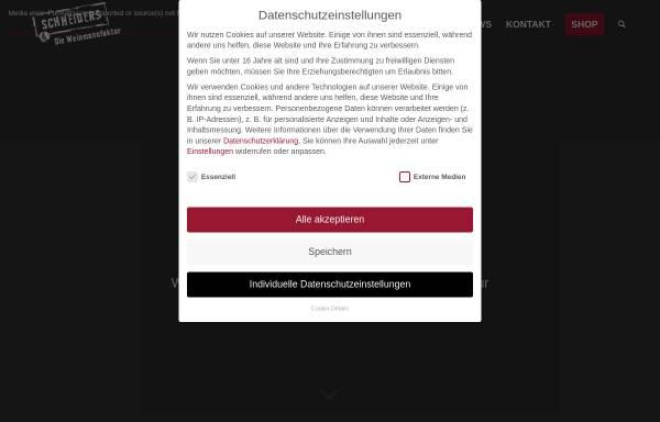 Vorschau von www.die-weinmanufaktur.de, Weinmanufaktur Helmut Schneiders
