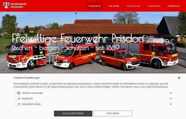 Vorschau von www.feuerwehr-prisdorf.de, Freiwillige Feuerwehr Prisdorf