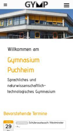 Vorschau der mobilen Webseite www.gymnasium-puchheim.de, Gymnasium Puchheim