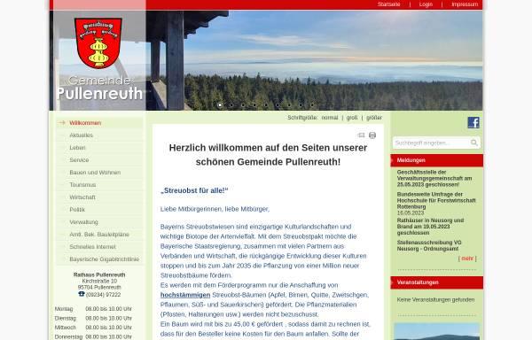 Vorschau von www.pullenreuth.de, Pullenreuth