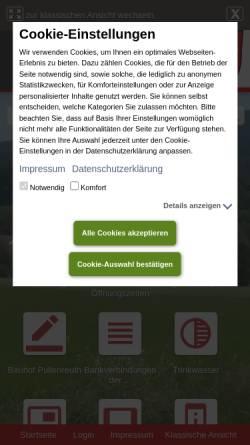 Vorschau der mobilen Webseite www.pullenreuth.de, Pullenreuth