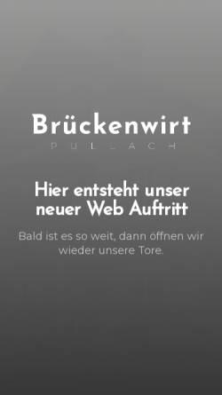 Vorschau der mobilen Webseite www.brueckenwirt.de, Gasthof Brückenwirt
