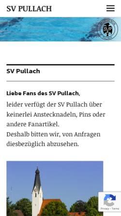 Vorschau der mobilen Webseite www.svpullach.de, Sportverein Pullach im Isartal e.V.