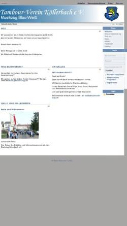 Vorschau der mobilen Webseite www.musik-zug.de, Tambourverein Musikzug Blau-Weiß Köllerbach e.V.