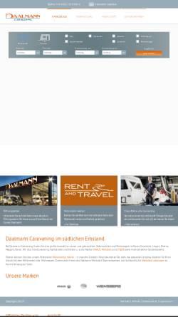 Vorschau der mobilen Webseite www.daalmann.de, Caravan Daalmann GmbH