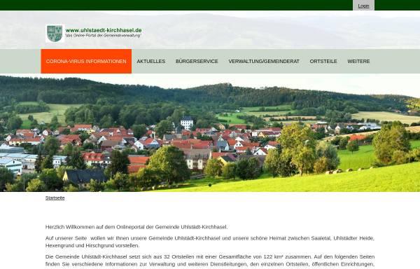 Vorschau von www.uhlstaedt-kirchhasel.de, Uhlstädt-Kirchhasel