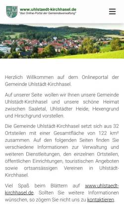 Vorschau der mobilen Webseite www.uhlstaedt-kirchhasel.de, Uhlstädt-Kirchhasel