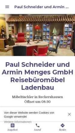 Vorschau der mobilen Webseite paul-schneider-und-armin-menges-gmbh.business.site, Innenausbau Paul Schneider