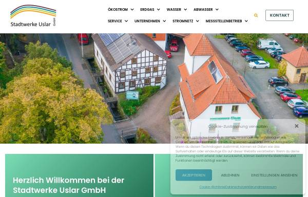 Vorschau von www.stadtwerke-uslar.de, Stadtwerke Uslar GmbH