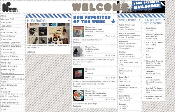 Vorschau von www.humrecords.ch, Hum Records