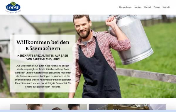 Vorschau von www.kaeserei-loose.de, Käserei Loose
