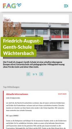 Vorschau der mobilen Webseite www.genth-schule.de, Friedrich-August-Genth-Schule
